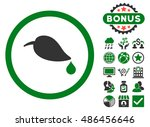 ecology leaf icon with bonus... | Shutterstock .eps vector #486456646