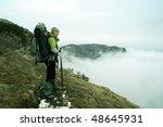 spring hike. | Shutterstock . vector #48645931