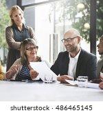 business people meeting... | Shutterstock . vector #486465145