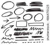 vector marker elements | Shutterstock .eps vector #486470125