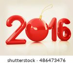 happy new 2016 year. 3d... | Shutterstock . vector #486473476