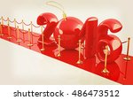 happy new 2016 year on new year'... | Shutterstock . vector #486473512