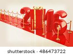 happy new 2016 year on new year'... | Shutterstock . vector #486473722