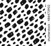 seamless grunge vector pattern. ... | Shutterstock .eps vector #486473902