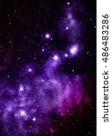 star field in space and a... | Shutterstock . vector #486483286