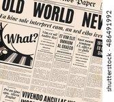 old newspaper vintage design.... | Shutterstock .eps vector #486491992