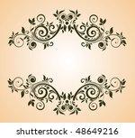vintage floral frame   Shutterstock .eps vector #48649216