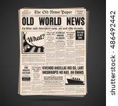 old newspaper vintage design.... | Shutterstock .eps vector #486492442