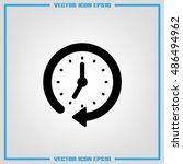 clock icon vector. | Shutterstock .eps vector #486494962