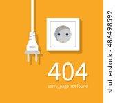 404 error  page not found.... | Shutterstock .eps vector #486498592