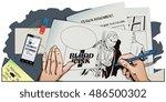 stock illustration. people in... | Shutterstock .eps vector #486500302
