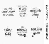 ink hand lettering. modern... | Shutterstock .eps vector #486502945