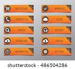 orange web buttons  high... | Shutterstock .eps vector #486504286