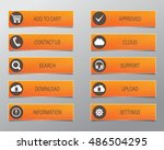 orange web buttons  high... | Shutterstock .eps vector #486504295