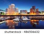 dusseldorf zollhof skyline | Shutterstock . vector #486506632