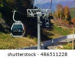 mountain zipline through autumn ... | Shutterstock . vector #486511228