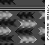 seamless horizontal arrows ... | Shutterstock .eps vector #486513142