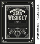 whiskey label with old frames.... | Shutterstock .eps vector #486513316