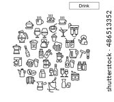 drink icons vector | Shutterstock .eps vector #486513352