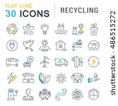 set vector line icons in flat... | Shutterstock .eps vector #486515272