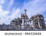 modern manufacturing industry | Shutterstock . vector #486518686