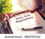 rules and regulations on... | Shutterstock . vector #486525316