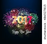happy new year 2017 | Shutterstock . vector #486527815