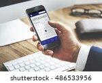 schedule calendar agenda... | Shutterstock . vector #486533956