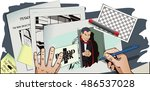 stock illustration. people in... | Shutterstock .eps vector #486537028