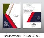 business brochure flyer banner... | Shutterstock .eps vector #486539158