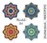 mandala design elements... | Shutterstock .eps vector #486539392