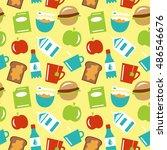 food seamless pattern colored... | Shutterstock .eps vector #486546676