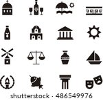 greece icons | Shutterstock .eps vector #486549976