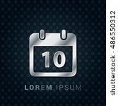 10th calendar 3d silver...