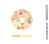 vector logo and packaging... | Shutterstock .eps vector #486562252