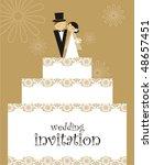 wedding invitation | Shutterstock .eps vector #48657451