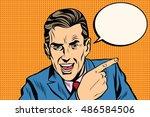 speaker businessman pointing... | Shutterstock .eps vector #486584506