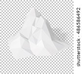 white 3d mountains  abstract... | Shutterstock .eps vector #486586492