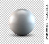 white abstract sphere  ball ... | Shutterstock .eps vector #486586816