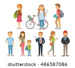 set of style young people  | Shutterstock .eps vector #486587086