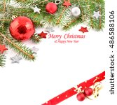 christmas card. holiday... | Shutterstock . vector #486588106