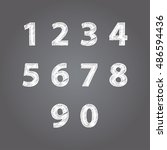 numbers design collection.... | Shutterstock .eps vector #486594436