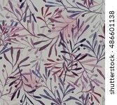 watercolor imprints of olive... | Shutterstock . vector #486601138