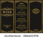 vintage design of restaurant... | Shutterstock .eps vector #486602596