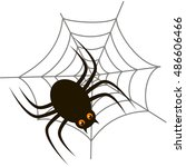 spider halloween icon with...   Shutterstock .eps vector #486606466