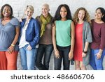 group of women happiness... | Shutterstock . vector #486606706