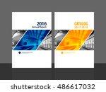 cover design for annual report... | Shutterstock .eps vector #486617032