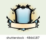 emblem with banner. place image ... | Shutterstock .eps vector #4866187