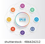 infographic template for... | Shutterstock .eps vector #486626212