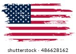 Stock vector grunge american flag vector flag of usa 486628162